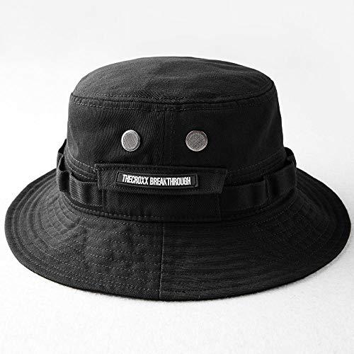 Pamelas De Playa Marca Negro Fisherman S Hat Bucket Hat Unisex Moda Hip Hop Streetwear Hombres Mujeres Cálido A Prueba De Viento Bucket Hat Al Aire Libre-Negro