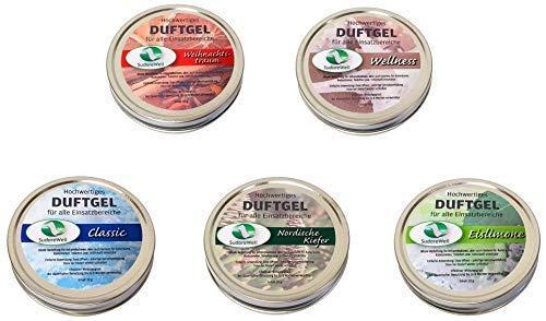 SudoreWell Duftgel Variation für Sauna, Infrarotkabine und Badezimmer, 5 x 20g Dosen
