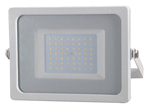 V-TAC VT-4955Proiettore a LED, 50W, bianco, IP65, in alluminio, certificazioni CE/EMC