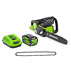 Greenworks Cordless Chainsaw 16-Inch 40V 4AH Battery