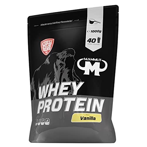 5 x Mammut Whey Protein, 1KG Beutel , Vanille (5er Pack)