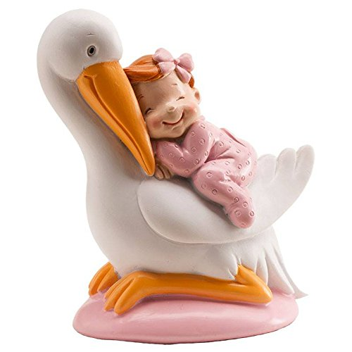 DEKORA Figura Cigüeña Bebe rosa