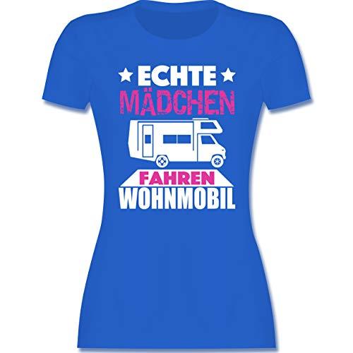 Andere Fahrzeuge - Echte Mädchen Fahren Wohnmobil - XL - Royalblau - Geschenke für wohnmobil - L191 - Tailliertes Tshirt für Damen und Frauen T-Shirt
