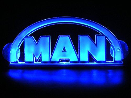 24V LED Kabine Innen Licht 3D Teller für Mann Trucks Neon Illuminating Tisch Schild (blau)