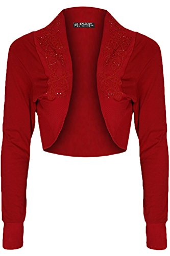 Oops Outlet - Coprispalle - Maniche lunghe - Donna Rosso rosso
