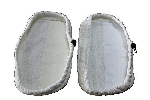 Nopea Microfaser Pad Steam Mop Reinigungspads Dampfmop Tuchabdeckung Mikrofaser Waschbare Dampfmopp Kissen 2 Stück Weiß