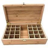 LULUTING Huiles essentielles d'affichage Organisateur Huile Essentielle Boîte de rangement en bois cas Organisateur Contient 25 bouteilles sûres for le transport et Stockage d'affichage (Couleur: Natu