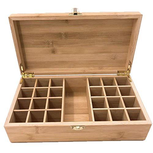 WUYUESUN Esencial de Almacenamiento de Aceite Caja de la Caja de Madera Organizador Tiene 25 Botellas de Agua Segura for Llevar Pantalla Y la casa for Guardar