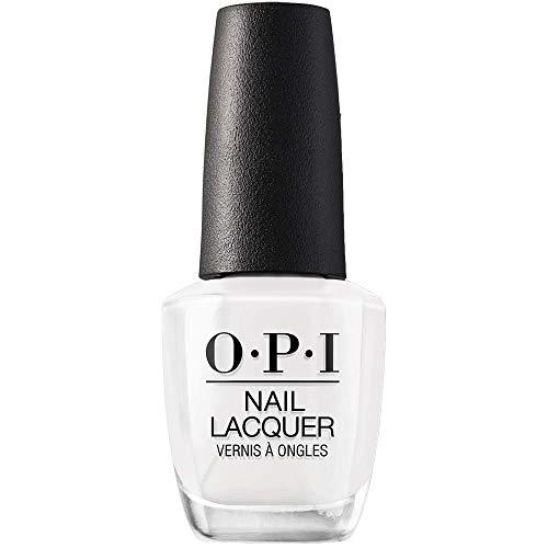 OPI Nail Laquer - Esmalte Uñas Duración de Hasta 7 Días, Efecto Manicura Profesional, 'Alpine Snow' Blanco - 15 ml