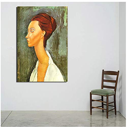 Modigliani Lunia Czechowska Wall Art Canvas Posters Modern Painting Wall Picture For Living Room Decoración del hogar   -60x90cm Sin Marco