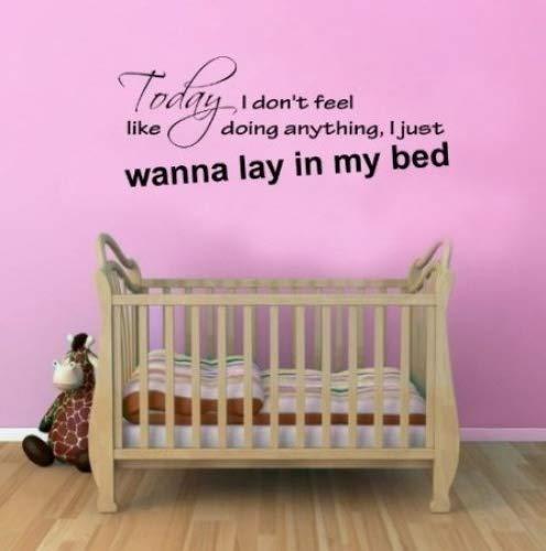 Bruno Mars lazy song Wandaufkleber Vinyl-Aufkleber Lyrics Quote Vinyl Decal Mural Art Schlafzimmer
