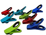 Magnetic Bag Clips   Keep Chips, Snacks, Food Sealed and Fresh   Hang Pictures & Notes on Refrigerator   Assorted 4 Colors (12 Pack)
