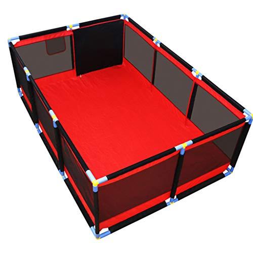 Domestico Box per Bambini Grid Ball Pool Box di Sicurezza Pit Tent Recinzione Playground Stuoia strisciante Hearth Gate Materassi Playmat Foam Blanket Riproduci Yard Castle Infant Castello Infantile
