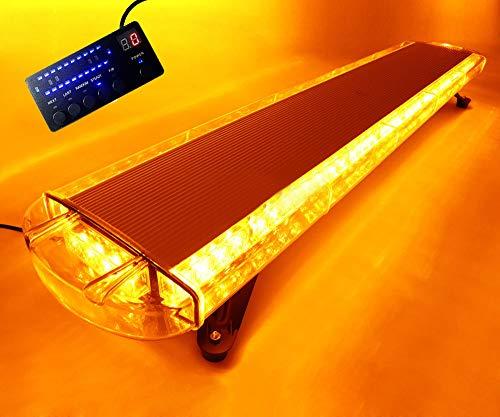 Barre de lumière d'urgence 80 W, 80 LED, 106,7 cm, Gyrophare stroboscopique pour dépanneuse - Ambrée - 12 V/24 V