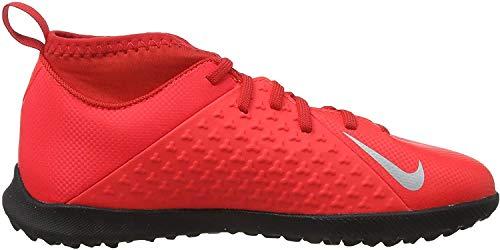 Nike Jr Phantom Vsn Club DF TF, Zapatillas de Fútbol Unisex Niños, Multicolor (Bright Crimson/Metallic Silver 600), 31.5 EU