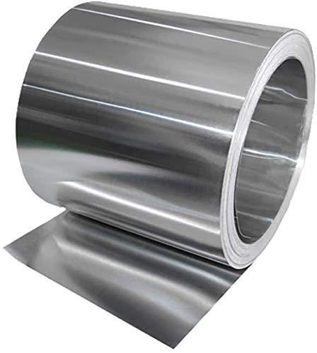 Wanggang 1060 Bande d'aluminium Feuille d'aluminium Mince Plaque de Feuille Bricolage métal matériel rondelle Mur 100mmx1000mm,Thickness: 0.2mm