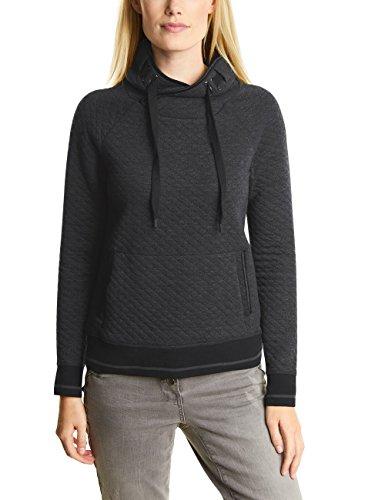 Cecil Damen 300398 Madita Sweatshirt, Dark Silver Melange, Small