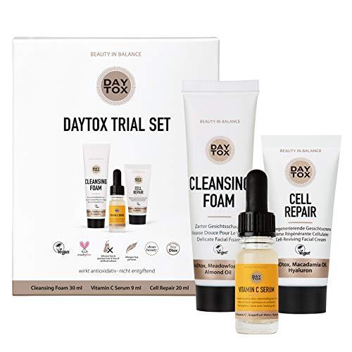 DAYTOX - Daytox Trial Set - Kennenlern-Set für tägliche Pflege - Vegan, ohne Farbstoffe, silikonfrei und parabenfrei - 59 ml