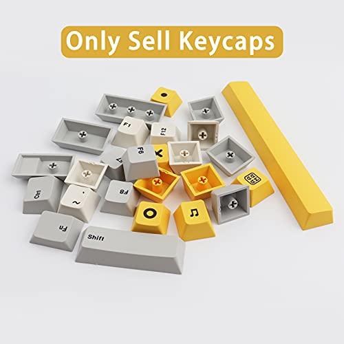 Keycaps, 132 PBT Keycaps Heavy Industry Keycaps Dye-Sublimation Cherry Profile Keycap for Cherry MX Mechanical Keyboards