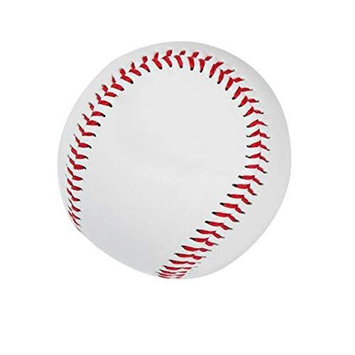 QiKun-Home Universal 9# Tipo Duro Niños Deportes PVC Goma Superior Pelotas de béisbol internas Equipo de Entrenamiento Juego Pelotas de béisbol Blancas y Rojas