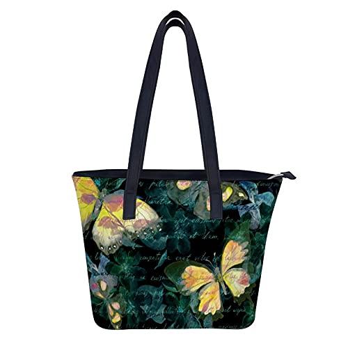 Bolsa de cuero para mujer con cremallera - Viajes, trabajo, sobre el hombro, carteras, ilustración
