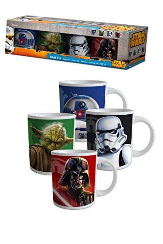 Disney - Star Wars Mugs X 4 Barette Cadeau Multicouleur