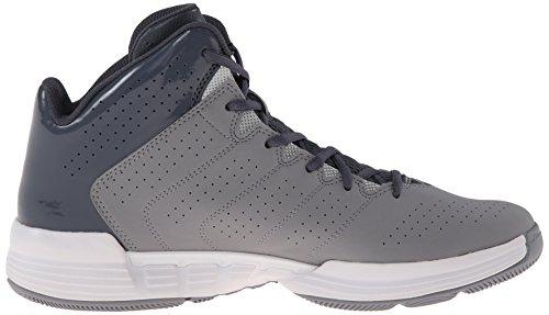 adidas Performance Men's Cross 'Em 3 Basketball Shoe, Onix/Metallic/Silver/Aluminum, 8 M US