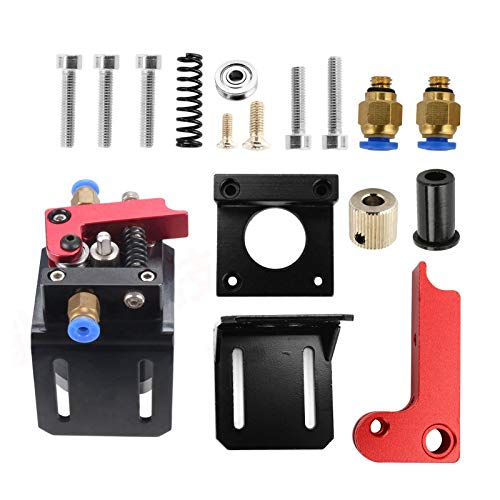 YORKING Upgrade Ender 3 Extruder MK8 Bowden Extruder with 40 Teeth Aluminum Alloy Drive Feed Replacement 3D Printer Extruders Kit for Creality CR-10 Series and other Reprap 3D Printers