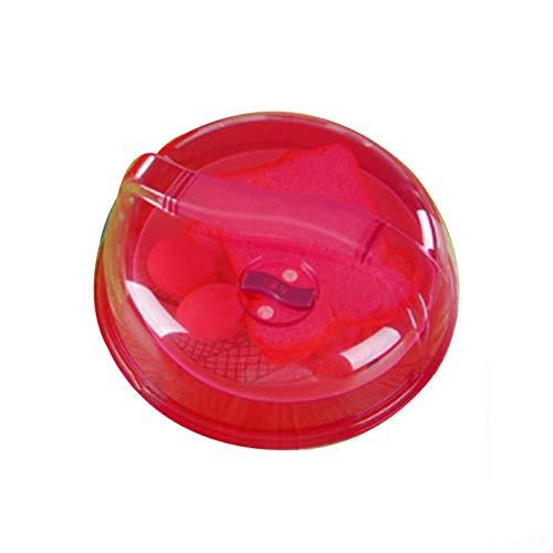 jianchangsheng Mikrowellen-Auflaufform, spritzwassergeschützt, staubdicht, mit Deckel, beheizt, öldicht, staubdicht, spritzwassergeschützt, Mehrzweck-Schüsselabdeckung Einheitsgröße rot