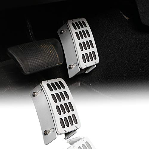 Gas Pedal Extender Cover Adjustable Driver Footrest Accelerator Higher Pedals Pad Covers Interior Accessories for Jeep Wrangler JK Unlimited 2007 2008 2009 2010 2011 2012 2013 2014 2015 2016 2017 2018