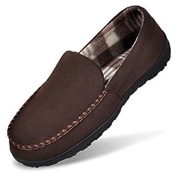 MIXIN Bedroom Slippers for Men Cozy House Shoe Indoor Outdoor Brown 10M