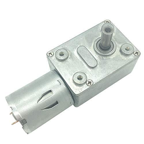 Bringsmart DC モーター 12v 高トルク 小型 90rpm, 6V ギヤード モーター 軸 直径6MM, バーベキューショー回転テーブルステージ照明自動販売機自動カーテンロボット自動装置 (12V 90rpm)