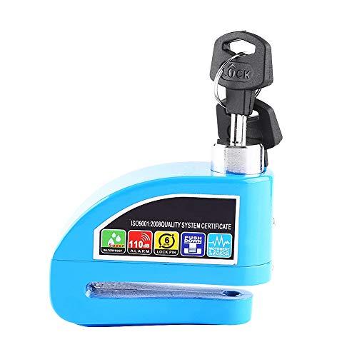 Sistema de alarma de seguridad del disco antirrobo de la bicicleta de la vespa de la motocicleta de la cerradura del freno para la bicicleta de la vespa(Verde)