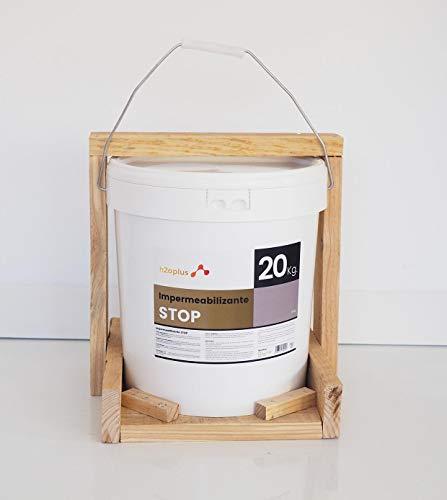 Revestimiento Elástico Impermeabilizante Stop · Pintura para Impermeabilizar parámetros horizontales en Terrazas, Azoteas, Balcones y Tejados · Color Gris · 20KG (16,6 L)