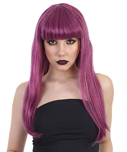 Straight Purple Fancy Wig, HW-1418