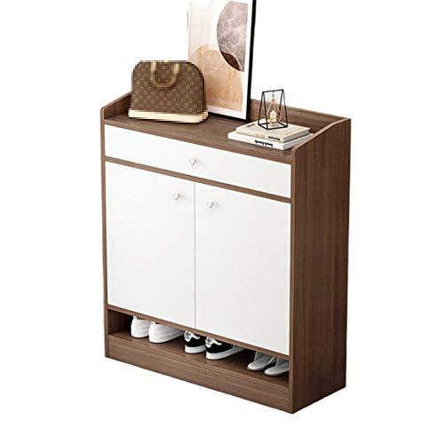 QINJIE Gabinete de Zapatos Interior Simple, Estante de Almacenamiento en el Hall de Entrada,Latón,23.6 Inches