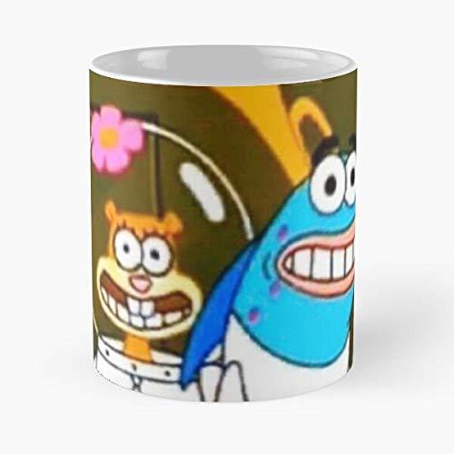 Squarepants Meme Krabs Mr Star Plankton Patrick Squidward Spongebob Reaction Sandy I FSGdesign-Coffee Mug Collectible Novelty 11 Oz Nice Valentine Inspirational and Motivational Souvenir !
