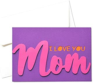 Mamma - festa della mamma - ti voglio bene - biglietto d'auguri (formato 10,5 x 15 cm) - vuoto all'interno, ideale per il ...