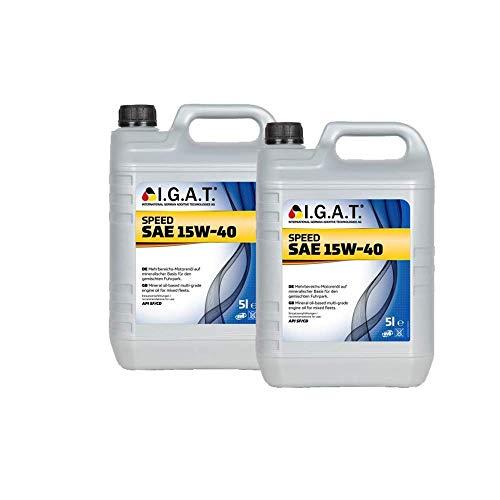 Motoröl Speed 15W-40 [2x 5 L] Igat SET20009-0050-IA10L Öl Schmierung