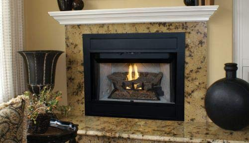 Find Bargain Superior 42 B-Vent MV Fireplace w/White Herringbone Panel - NG