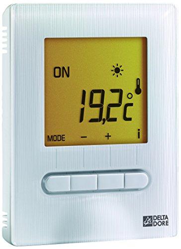 Delta Dore 6151055 Minor 12 Thermostat digital pour plancher ou plafond rayonnant, Blanc