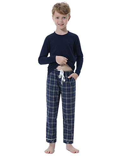 Hawiton Pijamas para niños Invierno, 2 Piezas algodón de
