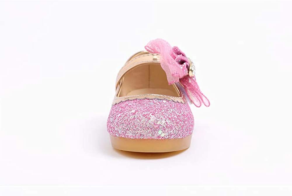 Ozkiz 'Bling Juju' LED Mary Jane Shoes for Girls_Pink and Hot Pink, US Size 8 Toddler ~ 1.5 Little Kid