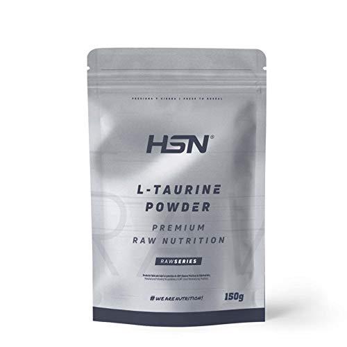 HSN - Taurin Pulver | Verbessert den Wasserhaushalt und reduziert Krämpfe | Neurotransmitter + erhöht die GABA-Produktion | Vegan, glutenfrei, laktosefrei | 150 g