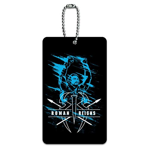 WWE Roman Reigns Smeared Luggage Card Suitcase Carry-On ID Tag