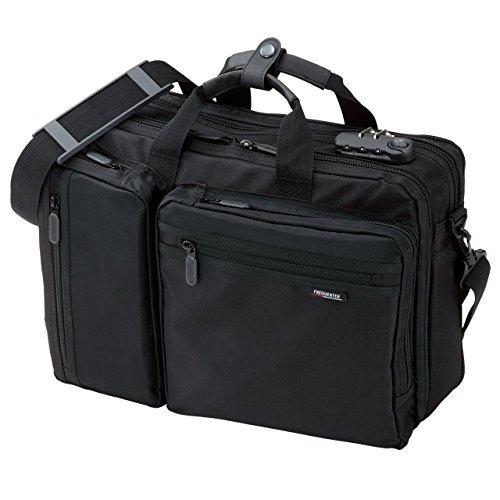 サンワダイレクト3WAYビジネスバッグマチ拡張機能・鍵付き20L15.6型ワイド対応200-BAG048