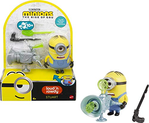 Product Image of the Minions: Loud 'n Rowdy Stuart Talking Action Figure with Fart Cannon Toy, Kids...