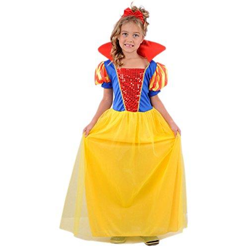 Wicked Fun UK Princess Children's Snow Girl Costume (Medium (7-10 Years))