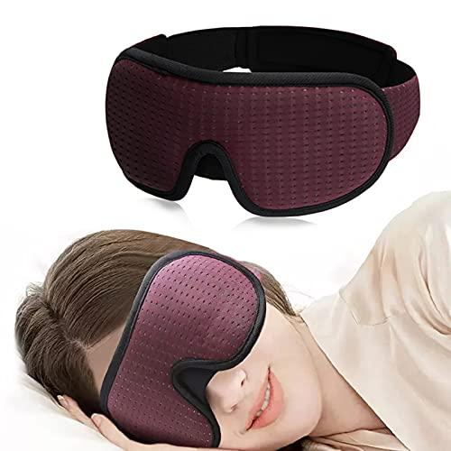 Antifaz para Mujer Hombre, Máscaras para Dormir con Diseño De Contorno 3D para Hombres Y Mujeres 100% Protección contra La Luz Correa De Velcro Ajustable Máscara para Los Ojos Máscara