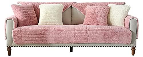 lixiaoyuttyy Funda para Sofa Chaise Longue/Protector Antideslizante, Funda para/Protectora De Sofá Cama para [Vendido por Pieza/No Es Un Juego Completo] Pink 70×70cm(27.56×27.56in)